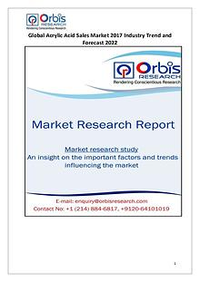 Global Acrylic Acid Sales Industry 2017 Market Research Report
