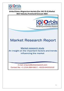 United States Magnesium Acetate Market Report: 2017 Edition