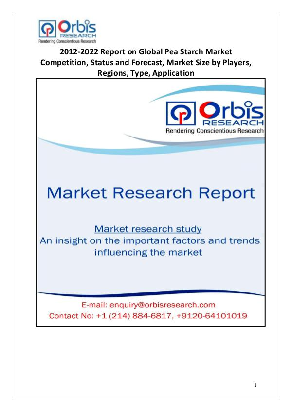 Global Pea Starch Market Research Global Pea Starch Market Research