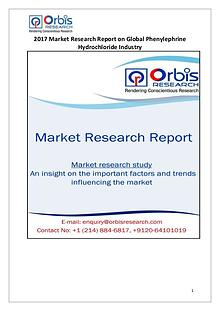 Orbis Research: 2017 Global Phenylephrine Hydrochloride Market