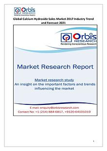 Orbis Research: 2017 Global Calcium Hydroxide Sales Market