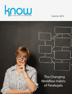 KNOW, the Magazine for Paralegals Summer 2013