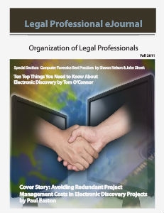 KNOW The Magazine for Paralegals OLP.Update Fall 2011.3