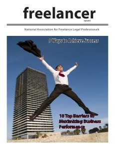 KNOW The Magazine for Paralegals Freelancer.fall2011.2