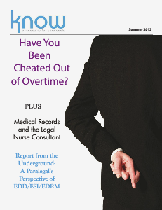 KNOW, The Magazine for Paralegals Jun. 2012