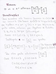 Teorema de Función Parte Entera