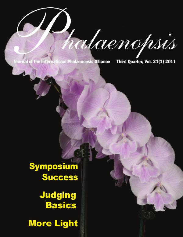 Phalaenopsis Journal Third Quarter 21(1), 2011