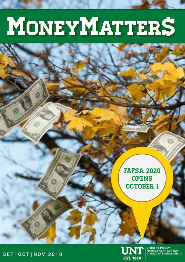 Money Matters September '18- November '18