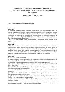 Coop Politiche Sociali - Documenti Lo Statuto ANCC