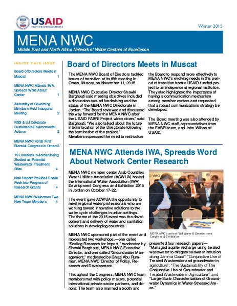 MENA NWC Update Winter 2016
