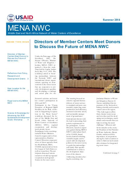 MENA NWC Update Volume 8