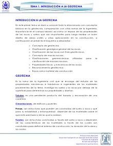 Tema 1. Introducción a la Geotecnia
