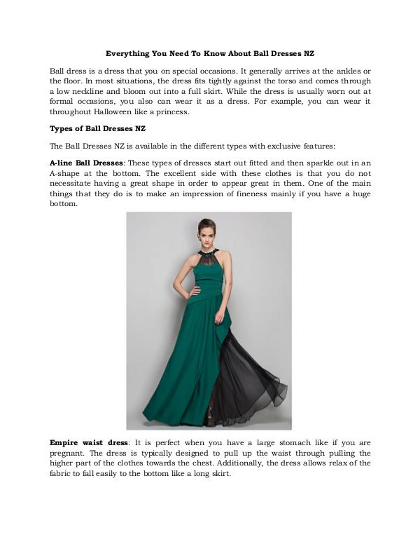 Everything You Need To Know About Ball Dresses Nz Everything You Need To Know About Ball Dresses Nz