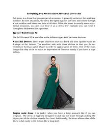 Everything You Need To Know About Ball Dresses Nz