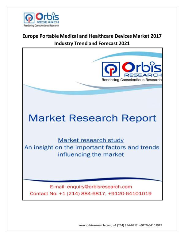 2017-2021 Europe Portable Medical and Healthcare D