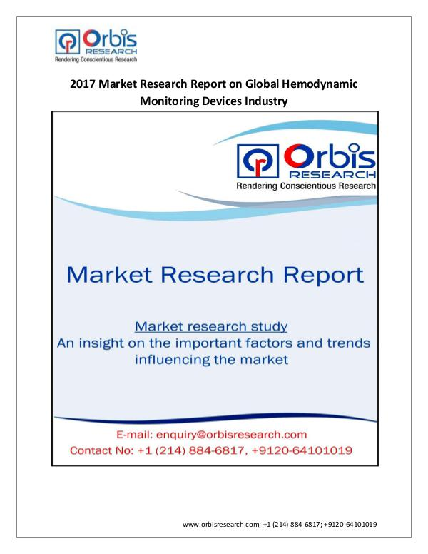Medical Devices Market Research Report Global Hemodynamic Monitoring Devices Industry  A