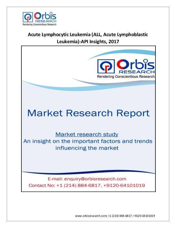 2017 Acute Lymphocytic Leukemia Industry Medical D