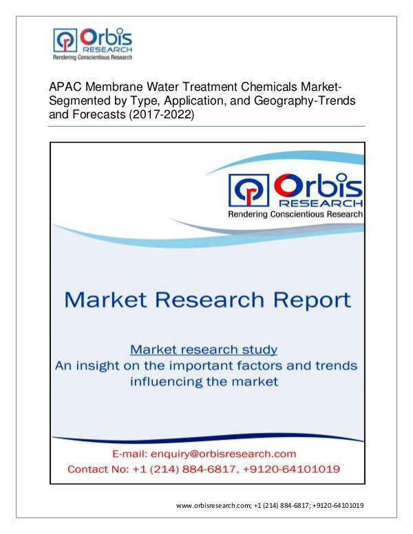 Chemical and Materials Market Research Report APAC Membrane Water Treatment Chemicals Market By