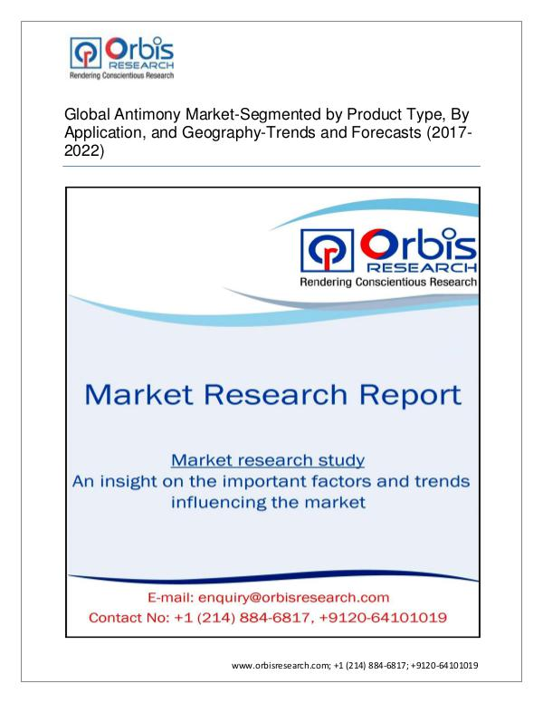 Chemical and Materials Market Research Report Global Antimony  Market by Applications (Market Si