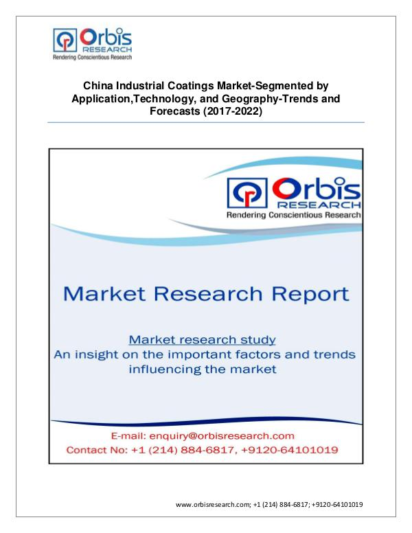 Chemical and Materials Market Research Report China Industrial Coatings  Market - Growing Buildi