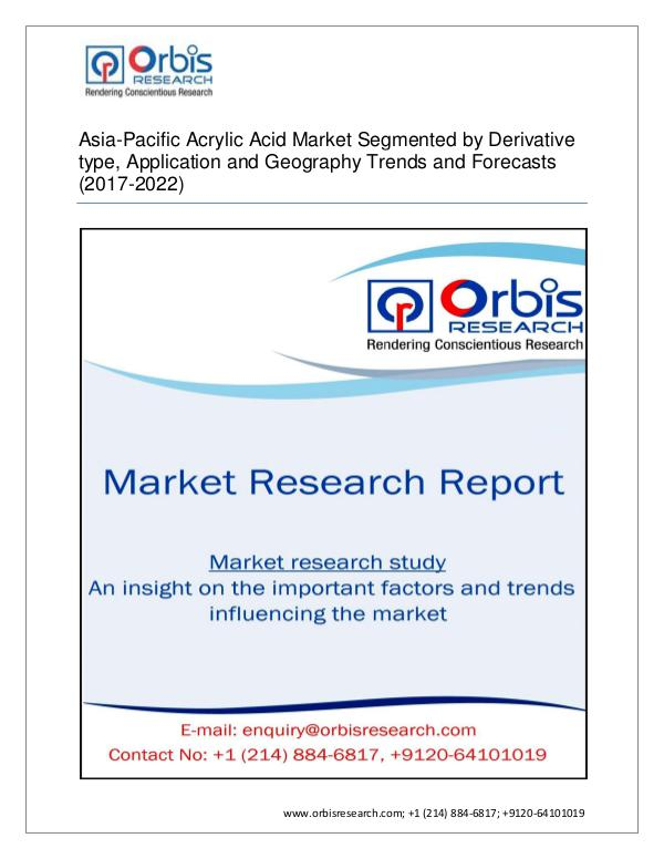 Chemical and Materials Market Research Report Asia-Pacific Acrylic Acid Industrial 2017 sectors