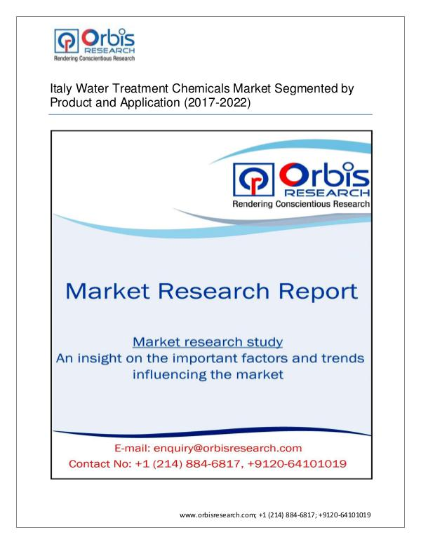 Chemical and Materials Market Research Report Water Treatment Chemicals Market By Product Type,
