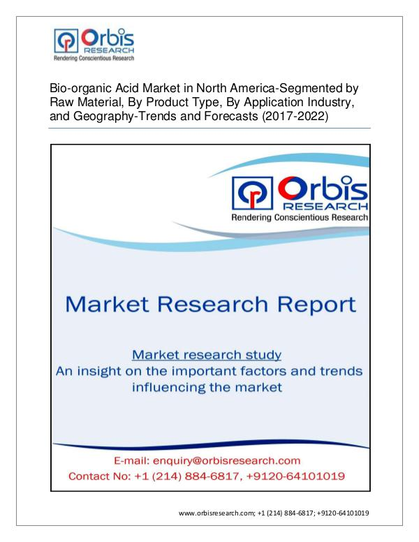 Bio-organic Acid North America - Segmented by Prod