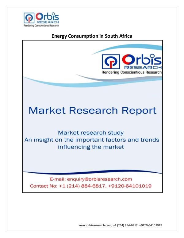 Energy Market Research Report New Study into Energy Consumption in South Africa