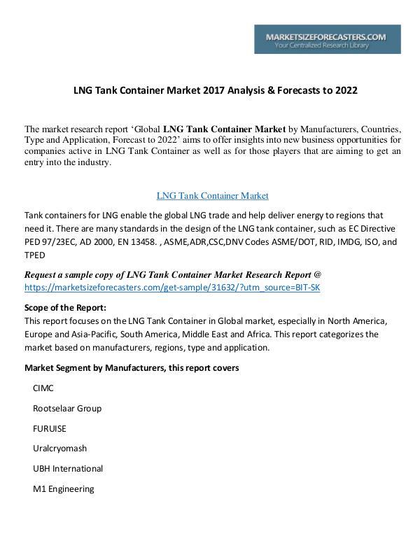 LNG Tank Container Market LNG Tank Container Market