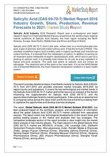 Global Salicylic Acid Market Development Status and Overview Forecast