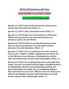 BUSN 115 STUDY Future Starts Here/busn115study.com