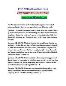 BUSN 380 STUDY Future Starts Here/busn380study.com