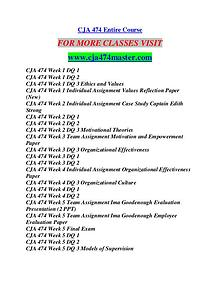 CJA 474 MASTER Career Begins/cja474master.com