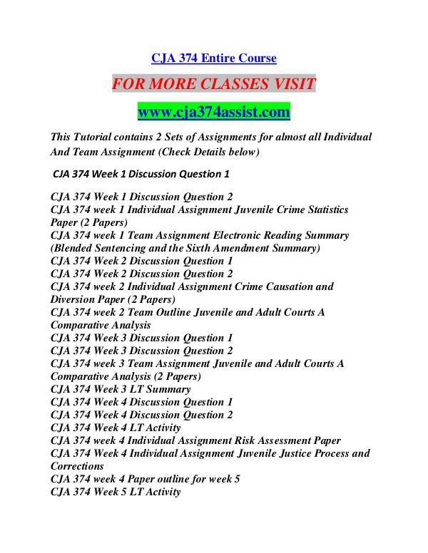 CJA 374 ASSIST Career Begins/cja374assist.com CJA 374 ASSIST Career Begins/cja374assist.com