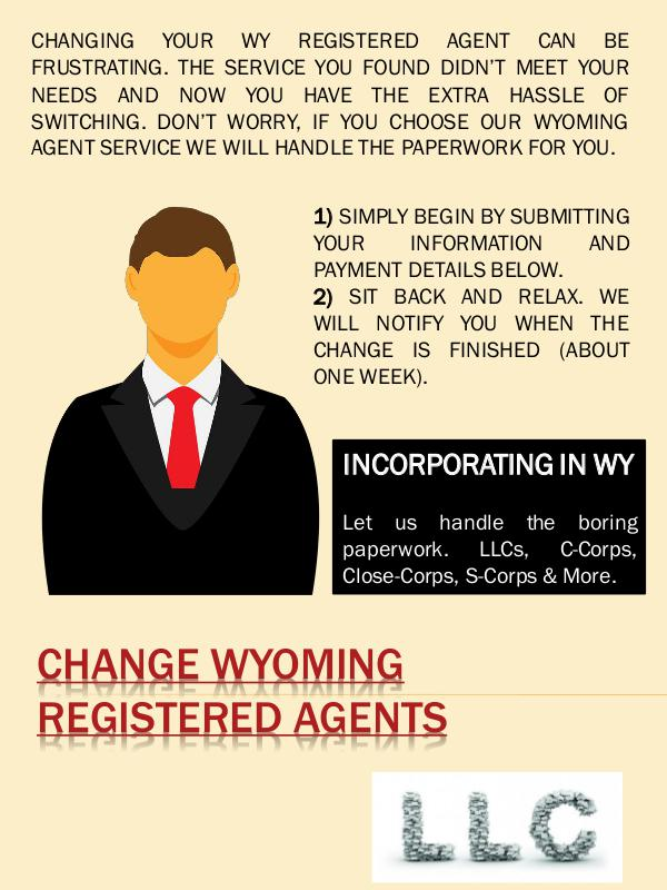 Switch wyoming registered agents Change Wyoming Registered Agents