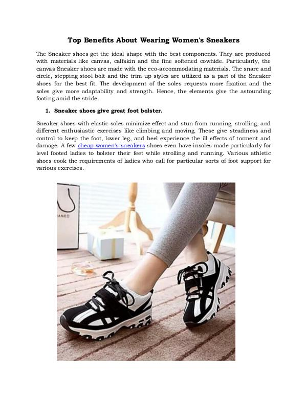 Top Benefits About Wearing Women's Sneakers Top Benefits About Wearing Women's Sneakers