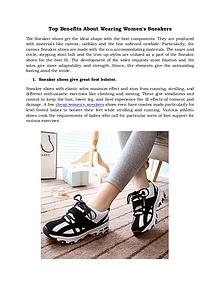 Top Benefits About Wearing Women's Sneakers