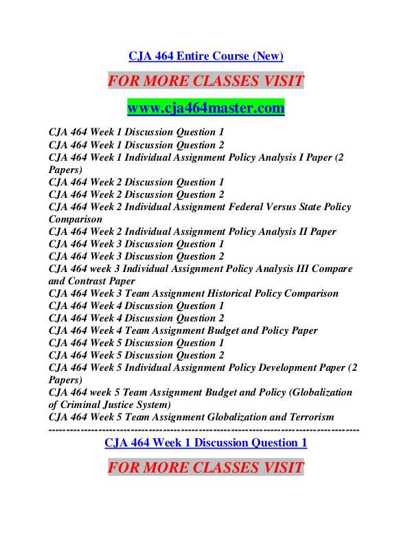 CJA 464 MASTER Career Begins/cja464master.com CJA 464 MASTER Career Begins/cja464master.com