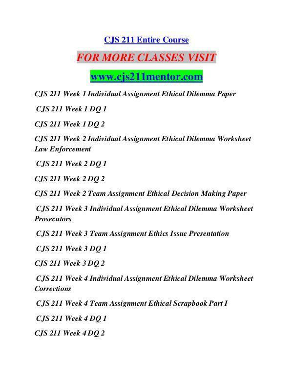 CJS 211 MENTOR Career Begins/cjs211mentor.com CJS 211 MENTOR Career Begins/cjs211mentor.com