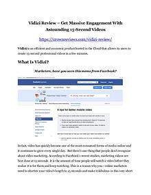 Vidizi Review and (FREE) Vidizi $24,700 Bonus