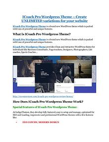 iCoach Pro Wordpress Theme Review and GIANT $12700 Bonus-80% Discount iCoach Pro Wordpress Theme Review and GIANT $12700 Bonus-80% Discount