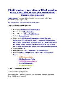 FlickDramatizer Review – (Truth) of FlickDramatizer and Bonus