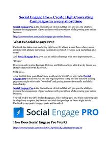 Social Engage Pro review in detail and (FREE) $21400 bonus