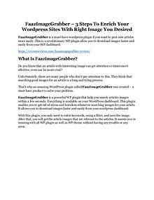 FaazImageGrabber Review - MASSIVE $23,800 BONUSES NOW!