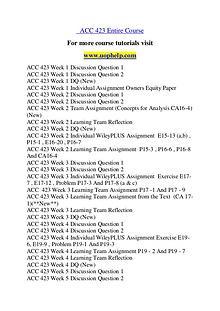ACC 423 Education Begins/uophelp.com