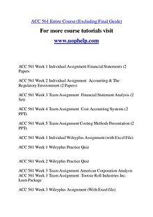 ACC 561 Education Begins/uophelp.com