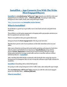 InstaPilot Detail Review and InstaPilot $22,700 Bonus