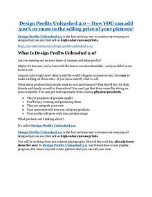 Design Profits Unleashed 2.0 Review & (BIGGEST) jaw-drop bonuses Design Profits Unleashed 2.0 Review & GIANT bonus packs