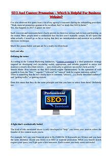 SEO And Content Promotion – Which is Helful For Business Webiste?