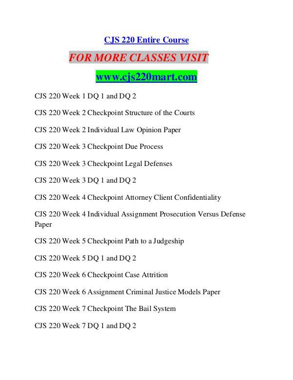 CJS 220 MART Career Begins/cjs220mart.com CJS 220 MART Career Begins/cjs220mart.com